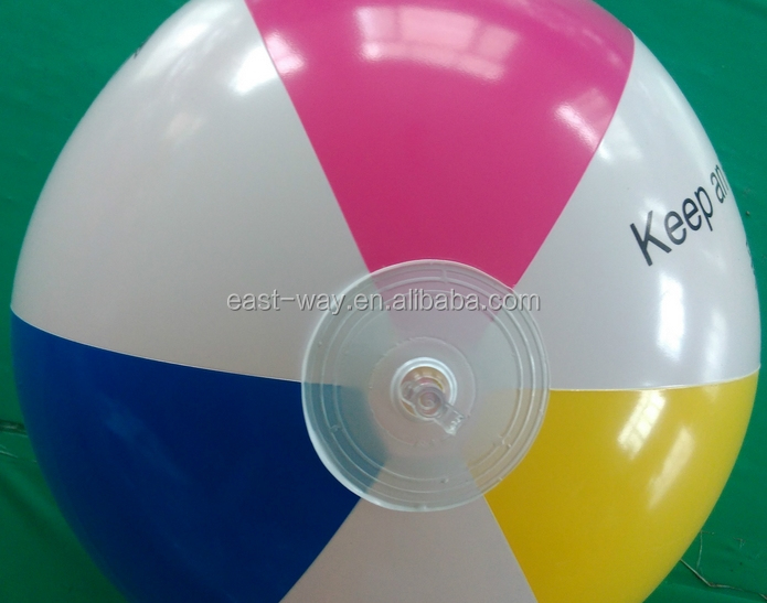 promotion advertising logo print custom pvc free beach ball