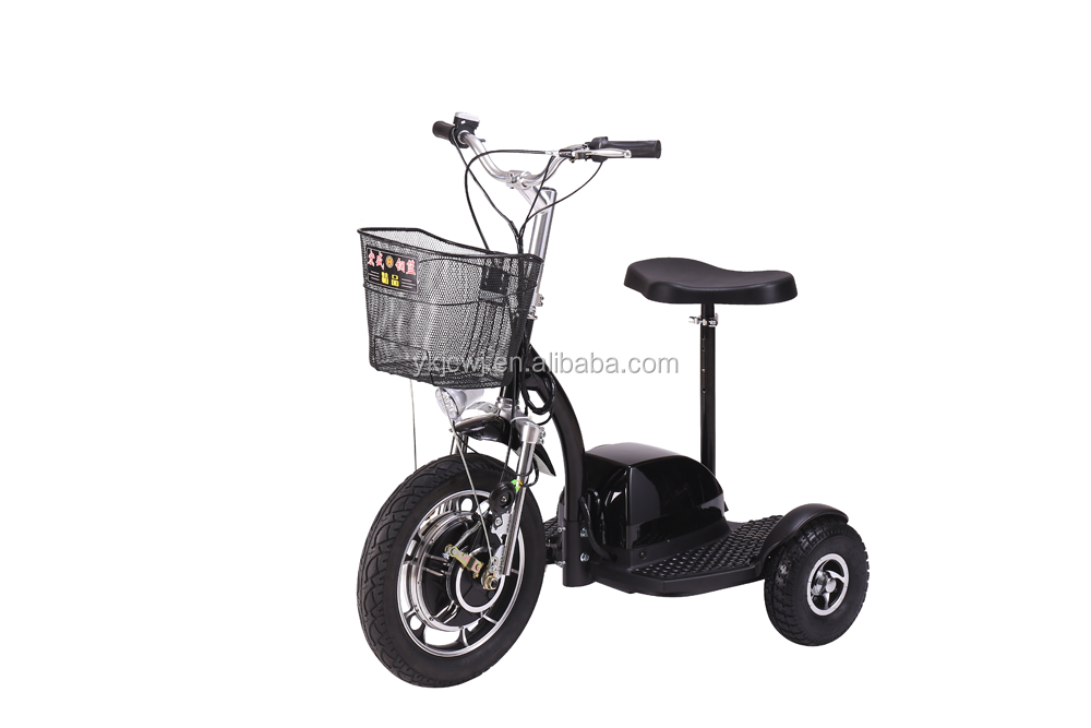 reverse gear three wheel electric scooter electric tricycle for old people with headlights basket