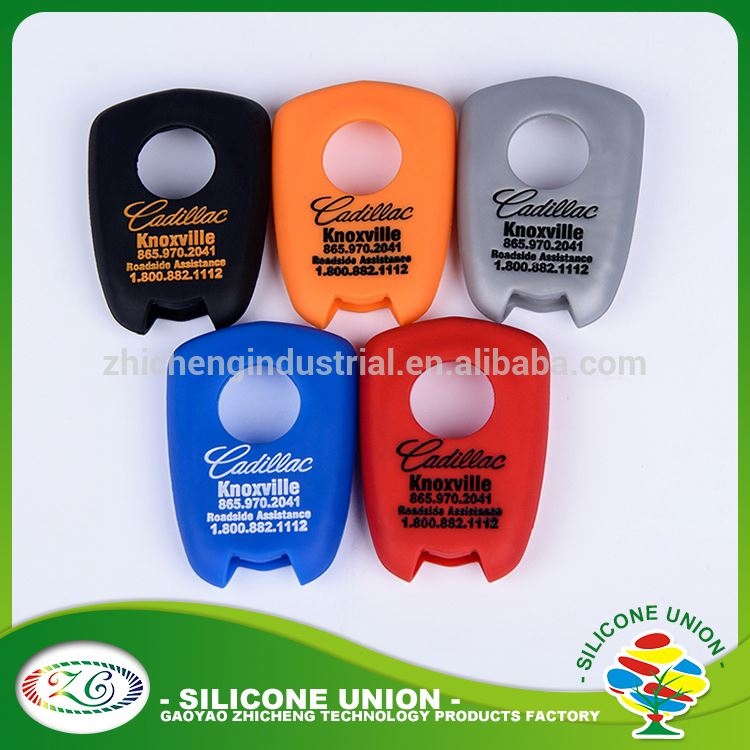 Custom debossed brand with your own logo silicone car key cover