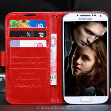 Hot For Samsung S4 Case Mobile Phone Cover Galaxy I9500 Cover Stand Holder Flip Cover HLC0052
