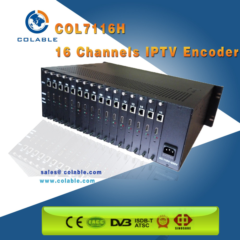 16 channel HD MI+AV SDI VGA Input H 264 Video Encoder with HDCP from direct manufacturer