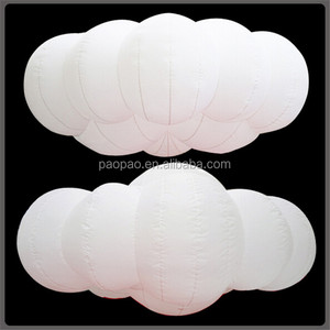 Flying inflatable Led lighting cloud balloon for stage decoration. A6017-2
