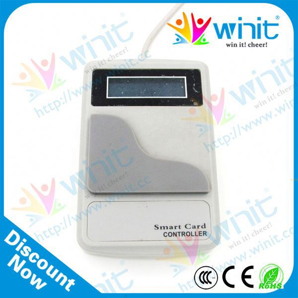 Security smart card reader control arcade management system for game machine