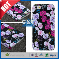 C&T Stylish flower design pc glossy fancy cell phone cases for iphone 5