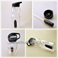BPA free sports filtered water bottle with straw