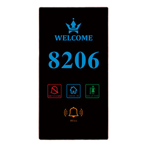 ORBITA 2018 Touch screen hotel door plate electronic doorplate with Do Not Disturb/hotel make up room sign with led light