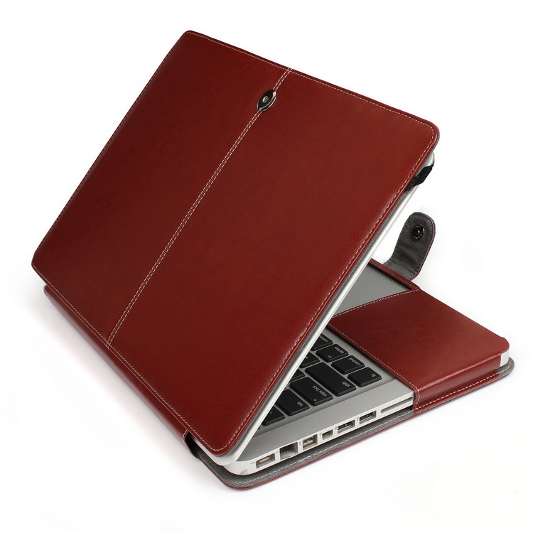 13 Leather Laptop Case for MacBook Pro A1278, Soft Luxury PU Leather Sleeve Bag