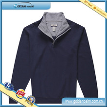Half Zip Plain Mens 100 Cotton Sweatshirt
