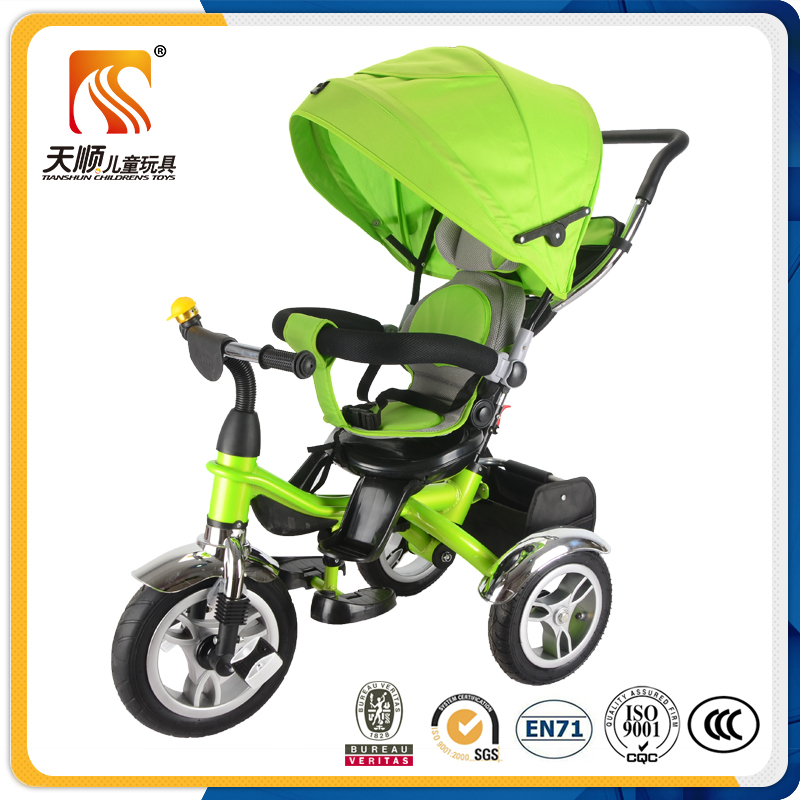 Chinese tricycle manufacturers children pedal car children baby tricycle with canopy