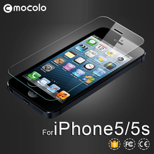 Mocolo 0.3mm premium tempered glass screen protector for iPhone5s cell phone screen guard film