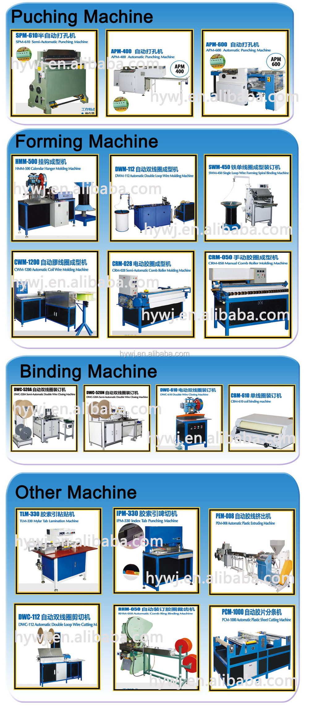 hot sale Double Wire hole Plastic Coil hole Binding Comb hole Paper Punching Machine with CE