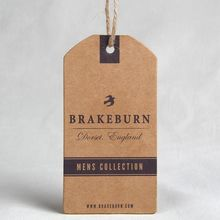 Kraft paper hang tag with eyelet, swing tag with company logo printing