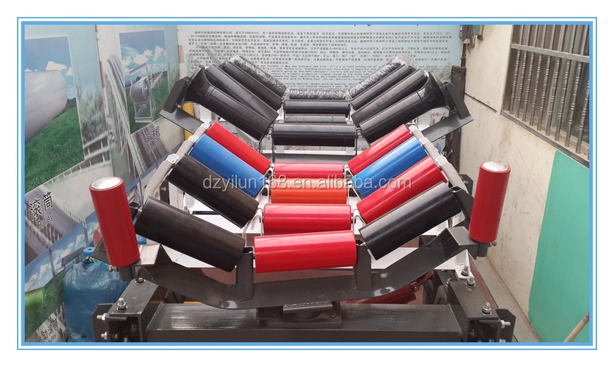 conveyor roller conveyor idler trough roller, Carbon steel pipe conveyor belt trough roller