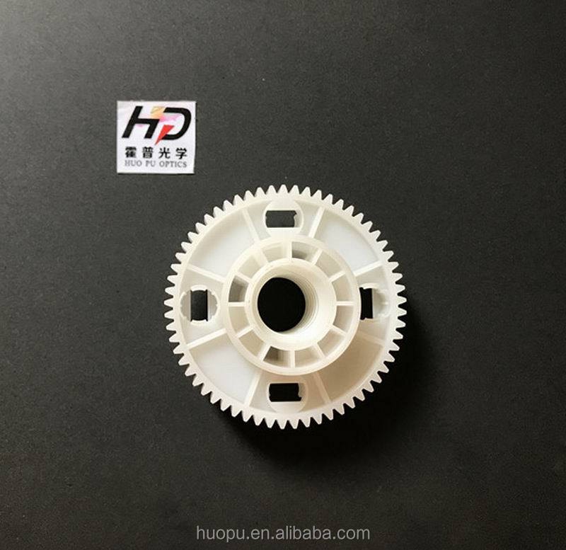 Delrin injection plastic mould white small gear pinion wheels