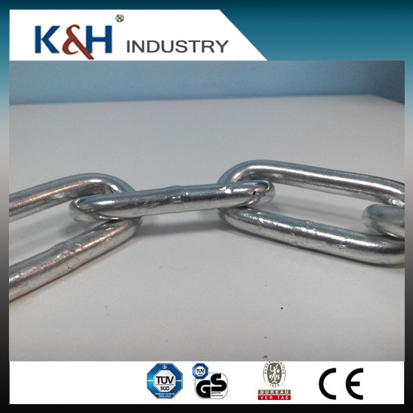 Professional kunhong good quality DIN762 10*50mm galvanized round chain