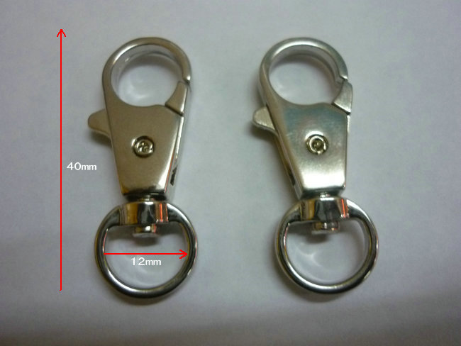 Different style alloy swivel lobster clasp swivel hooks