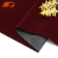 Viscose velvet pouch flocking fabric / velvet supplier