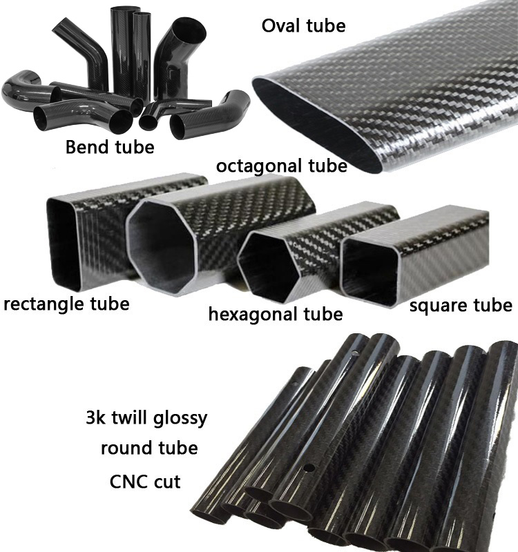 oustomized carbon fiber pipe factory directly 3k Twill Plain woven carbon fiber tube