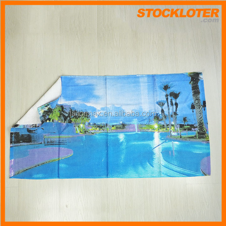 Hot Sell 2015 Reactive printing Cotton Beach Towel Stock Closeout