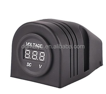 12V Motorcycle Cigarette Lighter Adapter LED Digital display Voltmeter Socket