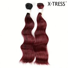 14inch 100g oT 530 modacrylic unique design colored synthetic hair extensions manufacturer bundle weaving hair