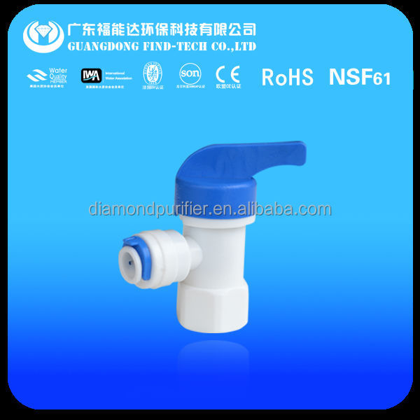 RO Quick Fittings water filter spare parts tank valve