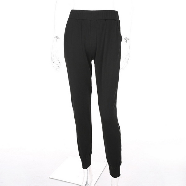 New Design Sport Long Pants Wide Leg Side High Waist Trousers for Ladies, womens casual pant