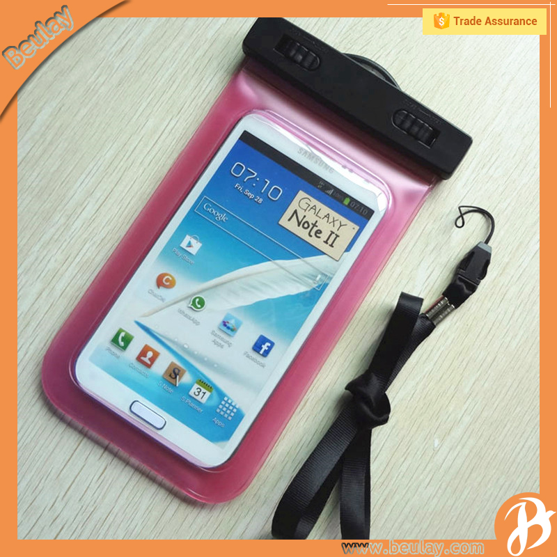 Phone accessories PVC waterproof swimming cellphone bag for iphone 7