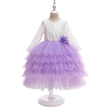 <strong>Girl's</strong> Summer Lace Backless <strong>Dress</strong> Long Sleeves Mesh Flower <strong>dress</strong> Princess Birthday Party <strong>Dress</strong>