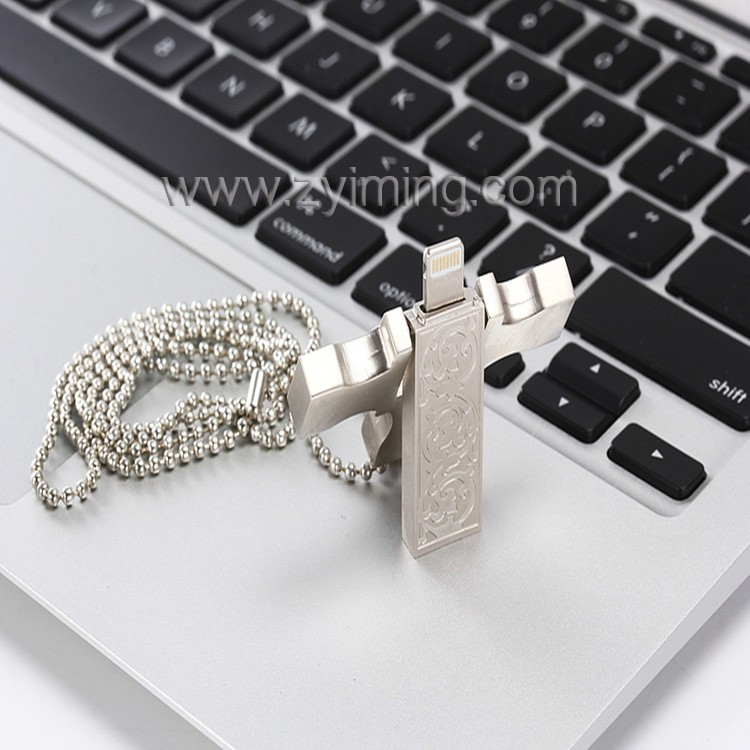Zyiming factory wholesale usb stick 8/16/32/64/128gb otg usb flash drive for iphone