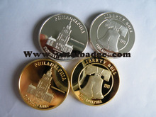 gold silver plating mirror effect coin