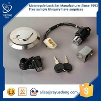 Egypt DY150-4 CBT125 lock set from dayun motorcycle supplier,three wheel motorcycle parts