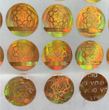Make tamper evident holographic label / Security Hologram VOID sticker with factory cheap price