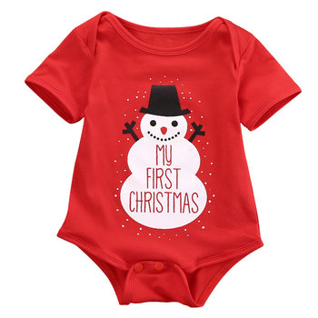 Newborn baby clothing baby bodysuits christmas wholesale