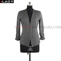brand name italian women jacquard suits from china