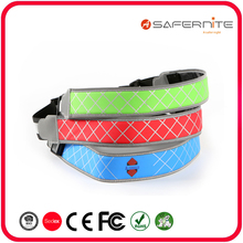 USB Rechargeable Waterproof Running Waist Belt with Nylon Webbing
