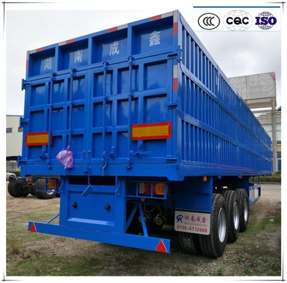 china factory good price heavy duty 40 ton 3 axle semi truck box trailer for sale