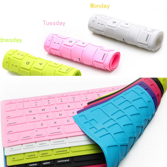 colorful wholesale silicon soft cover keyboard protector for macbook spanish/Thai/Japanese version