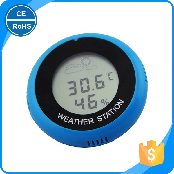 2017 New LCD Display Digital Indoor Hygrometer Temperature Humidity Meter Gauge Thermometer Barometer Weather Station