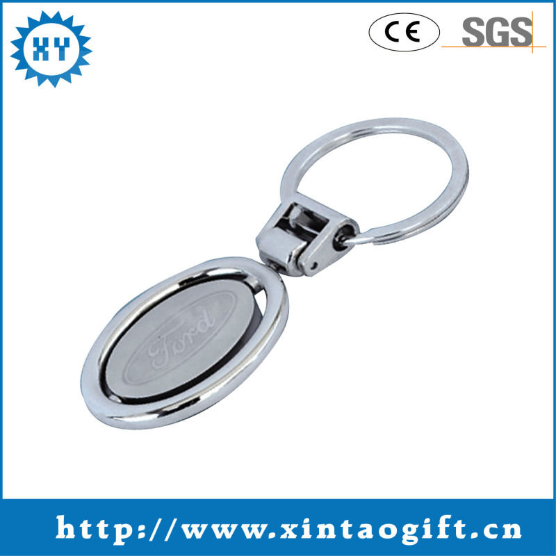Personalized 2013 hot sale zinc alloy promotional custom metal keychain with enamel