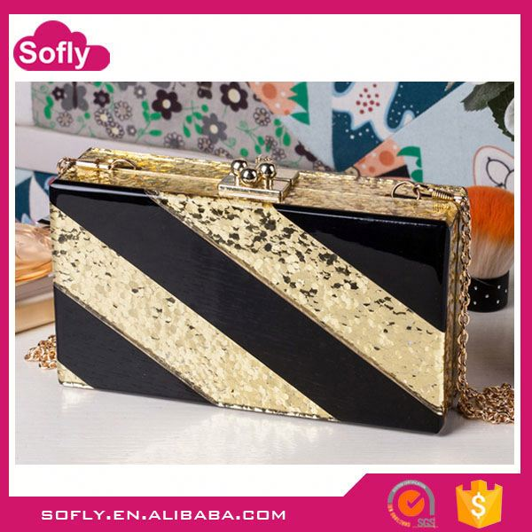 Acrylic Evening Clutch Bags, Personalized Shoulder Bag