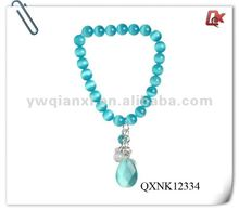 Fashion sapphire faceted bead necklaces (QXNK12334)