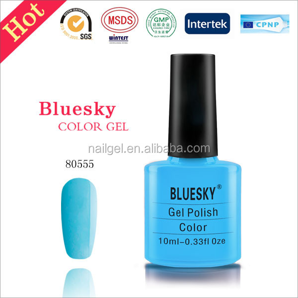 NEW SUMMER 2016 COLOURS, BLUESKY, NAIL POLISH, UV/LED GEL. Color 80555