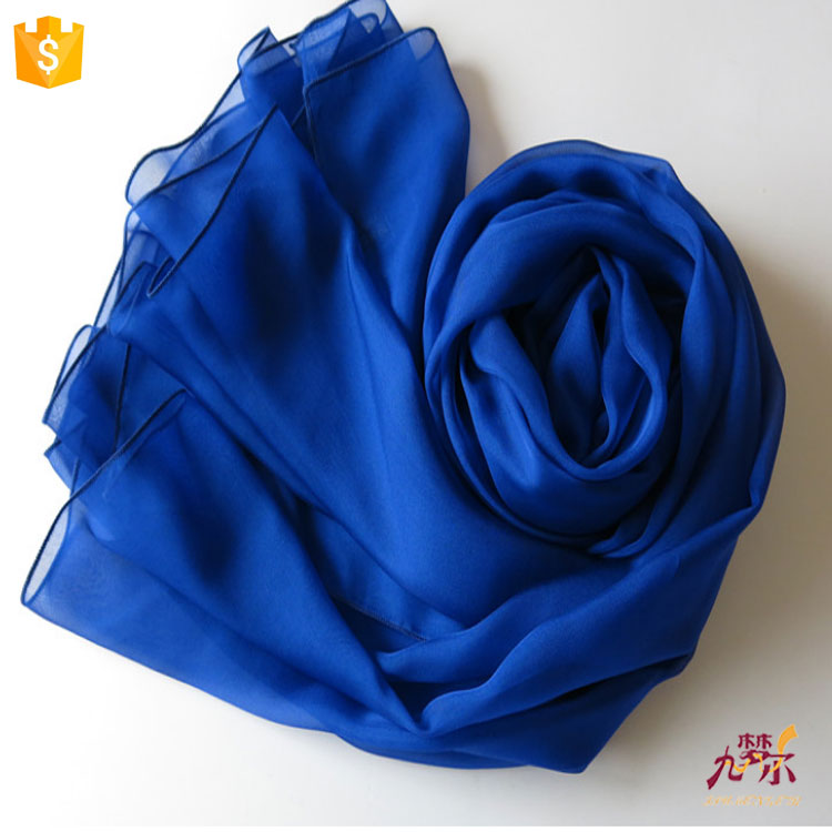 China pure color exclusive silk shawl supplier