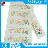 OEM custom non-branded lovely rabbit image printed plastic or PE band aid of 70 x 18mm (CE and FDA approval)