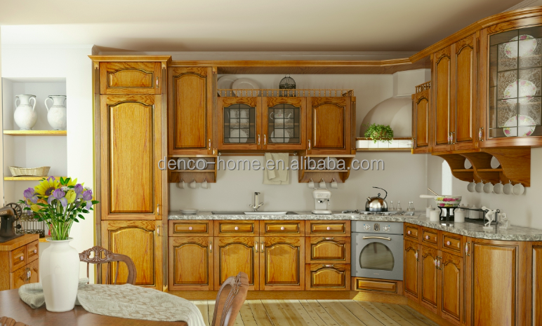 American solid wood kitchen cabinet good quality competitive price