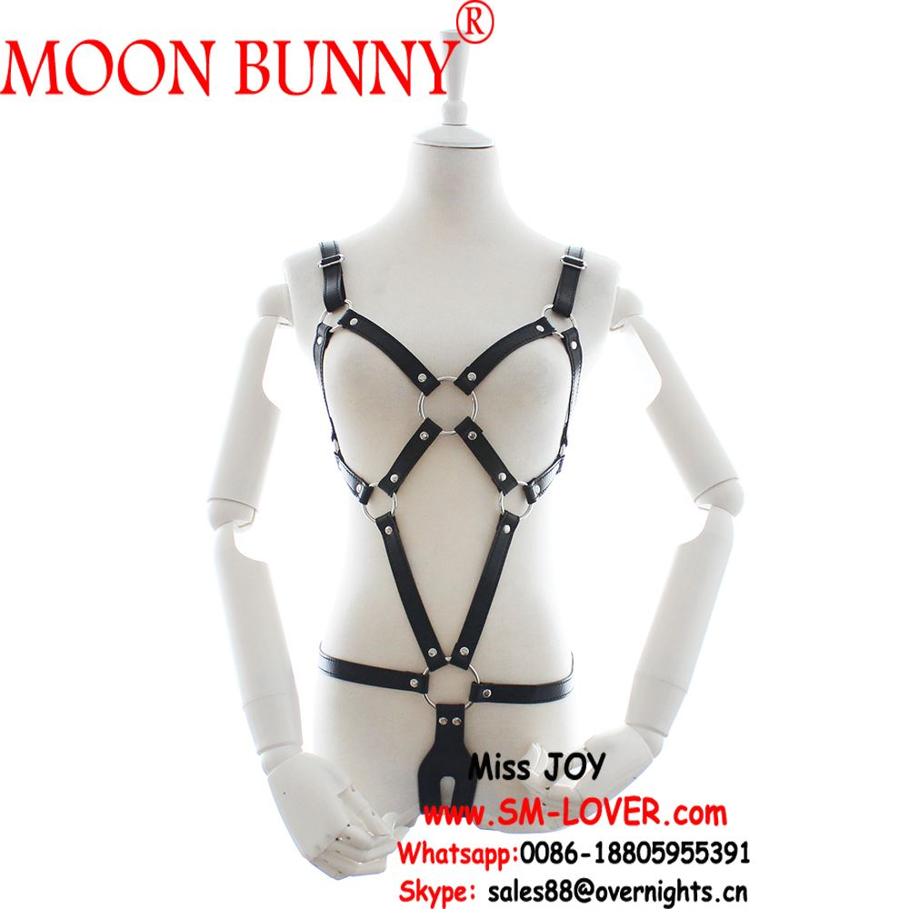 New Arrival PU Leather Open Breast Sexy Erotic Underwear Costumes For Women Fetish Bondage Sex Toys For Couples Adult Games
