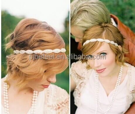BEFEEL high quality CZ rhinestone european type hairband accessories for wedding