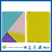 High-quality customize minion high sell leather cover and cards for ipad air