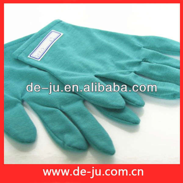 Winter Gift Cotton Green Five Fingers Warm Gloves